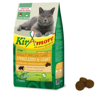Kiramore mačky Sterilized & Light 1,5 kg